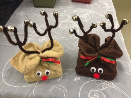Reindeer soap and washcloth kit